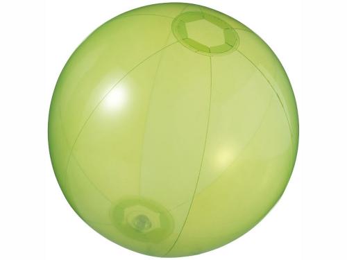 Мяч пляжный «Ibiza», зеленый прозрачный
