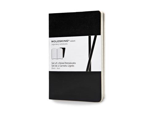 Записная книжка Moleskine Volant (в линейку, 2 шт.), Pocket (9х14см), черный