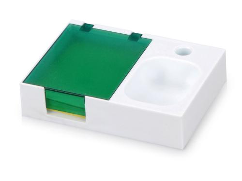 Подставка под ручку и скрепки «Потакет», белый/зеленый