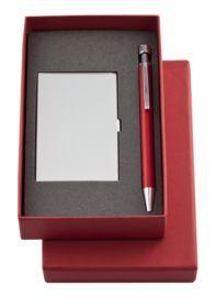 Набор Join: футляр для визиток и шариковая ручка