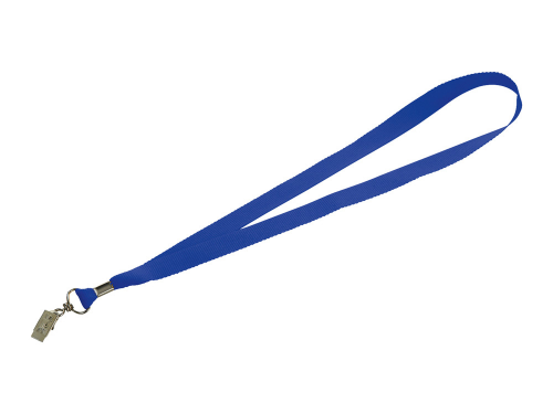 "Шнурок с поворотным зажимом ""Igor"", ярко-синий"