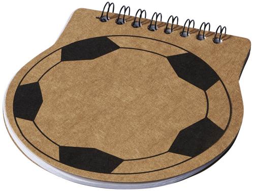 Блокнот в виде футбольной таблицы, натуральный