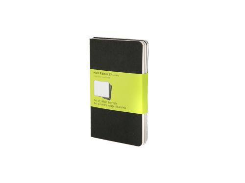 Записная книжка Moleskine Cahier (нелинованный, 3 шт.), Pocket (9х14см), черный