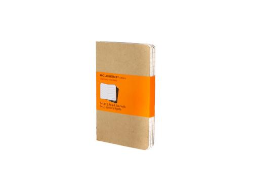 Записная книжка Moleskine Cahier (в линейку, 3 шт.), Pocket (9х14см), бежевый