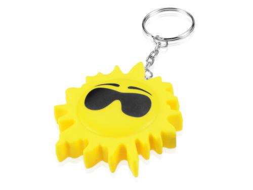 "Брелок-рулетка ""Солнце"", 1 м., желтый/черный 1м"