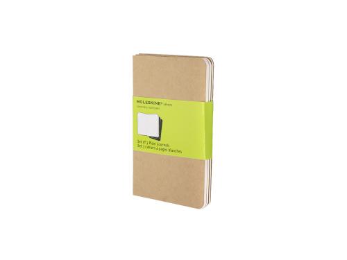Записная книжка Moleskine Cahier (нелинованный, 3 шт.), Pocket (9х14см), бежевый