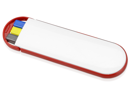 "Набор ""Квартет"": ручка шариковая, карандаш и маркер, белый/красный"