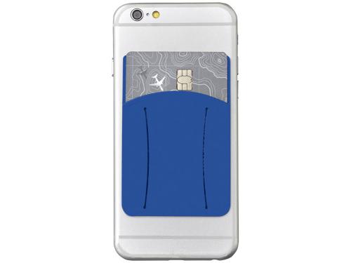 Картхолдер для телефона с отверстием для пальца, ярко-синий