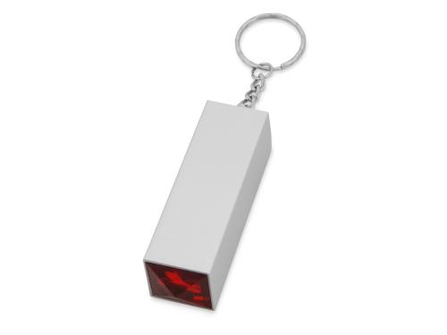 Брелок с маникюрным набором, серебристый/красный