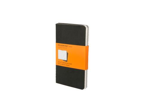 Записная книжка Moleskine Cahier (в линейку, 3 шт.), Pocket (9х14см), черный