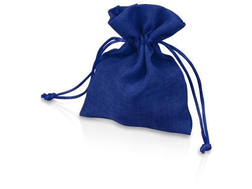 Мешочек подарочный, искусственный лен, малый, темно-синий