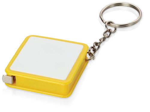 Брелок-рулетка, 1 м., белый/желтый 1м