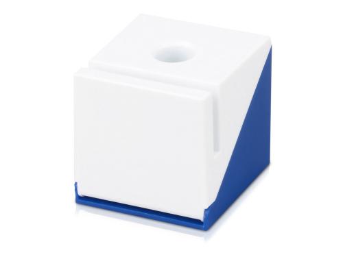 """Подставка для визиток, ручки и скрепок """"Куб"""", синий"""