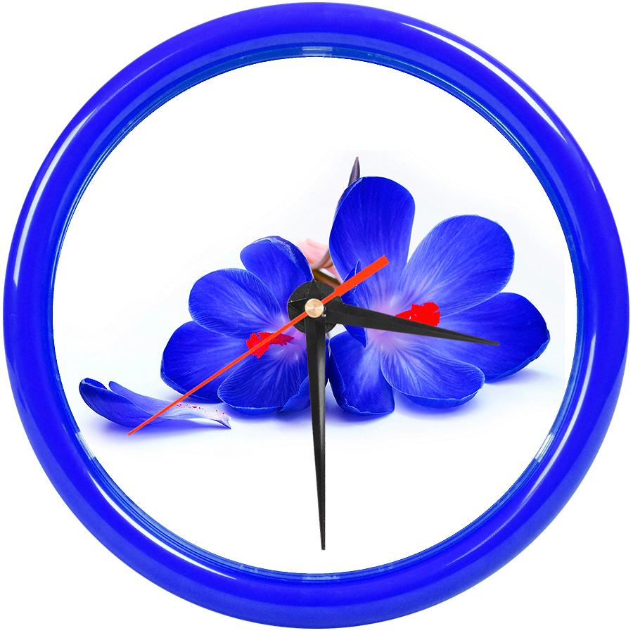 """Часы настенные """"PRINT"""" разборные ;  темно-cиний, D24,5 см; пластик"""