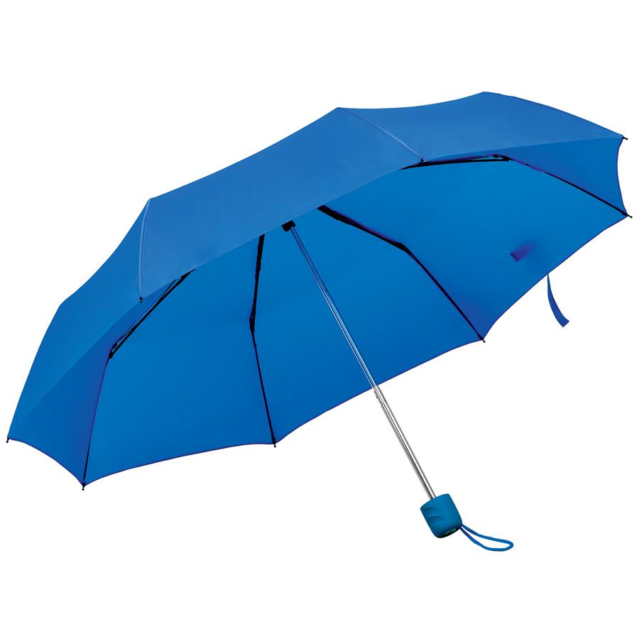 """Зонт складной """"Foldi"""", механический, пластиковая ручка, ярко-синий,"""
