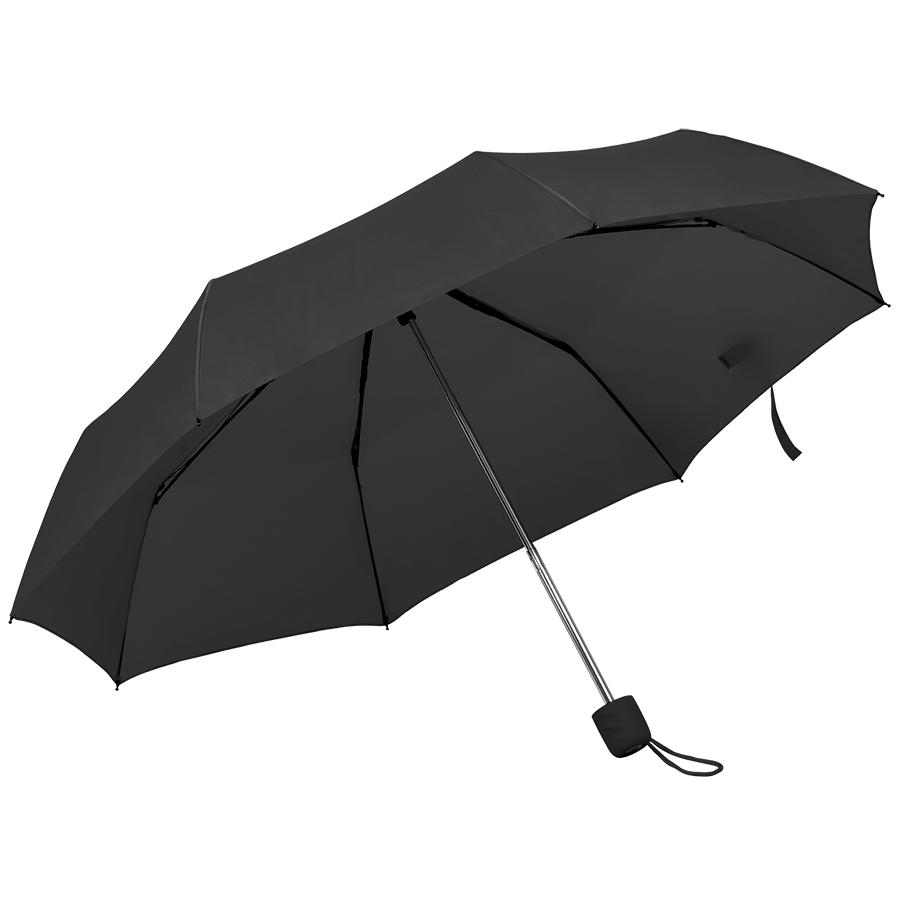 """Зонт складной """"Foldi"""", механический, пластиковая ручка, черный"""
