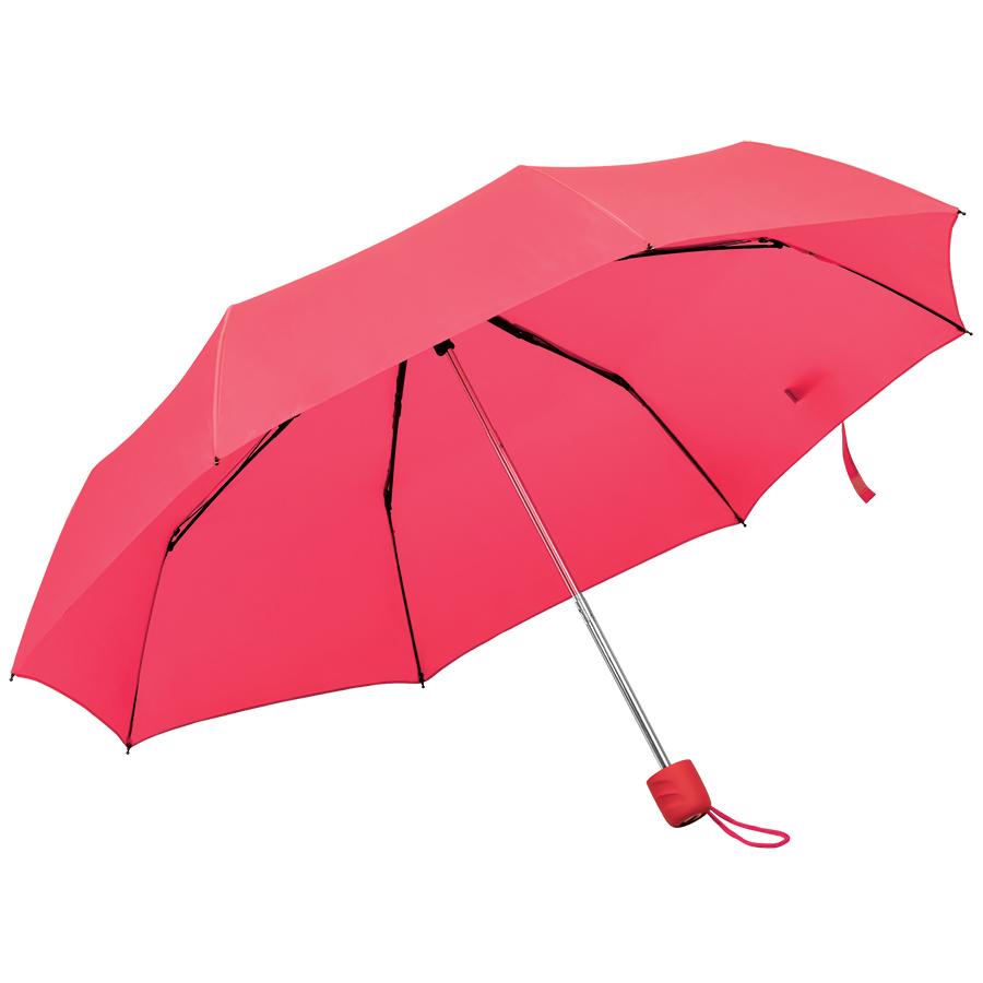 """Зонт складной """"Foldi"""", механический, пластиковая ручка, красный"""