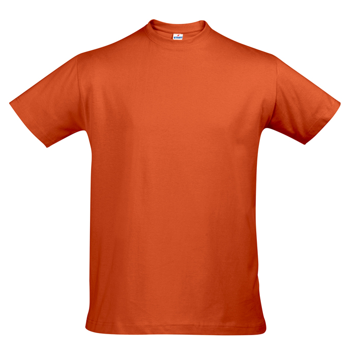 "Футболка ""First"" 140 г/м2, 100% хлопок, оранжевый_XL"