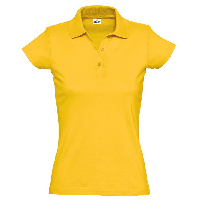 "Поло ""Miss Style"" джерси, 100% хлопок, 170 г/м2, желтый_L"