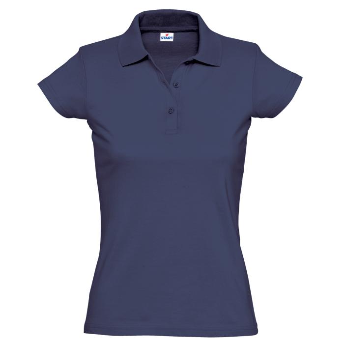 """Поло """"Miss Style"""" джерси, 100% хлопок, 170 г/м2, темно-синий_L"""