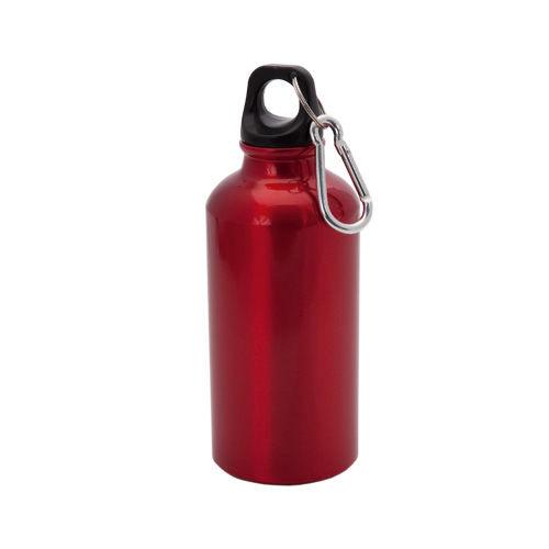 """Бутылка для воды """"Mento"""", алюминиевая, с карабином, 400 мл., красный"""