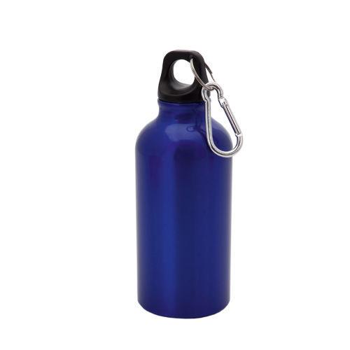 """Бутылка для воды """"Mento"""", алюминиевая, с карабином, 400 мл., синий"""