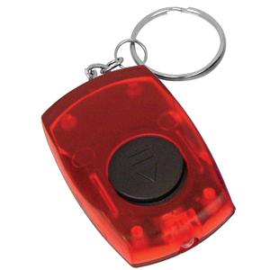 Брелок со светодиодом; красный; 5,5х3,5х1,4 см; пластик; тампопечать