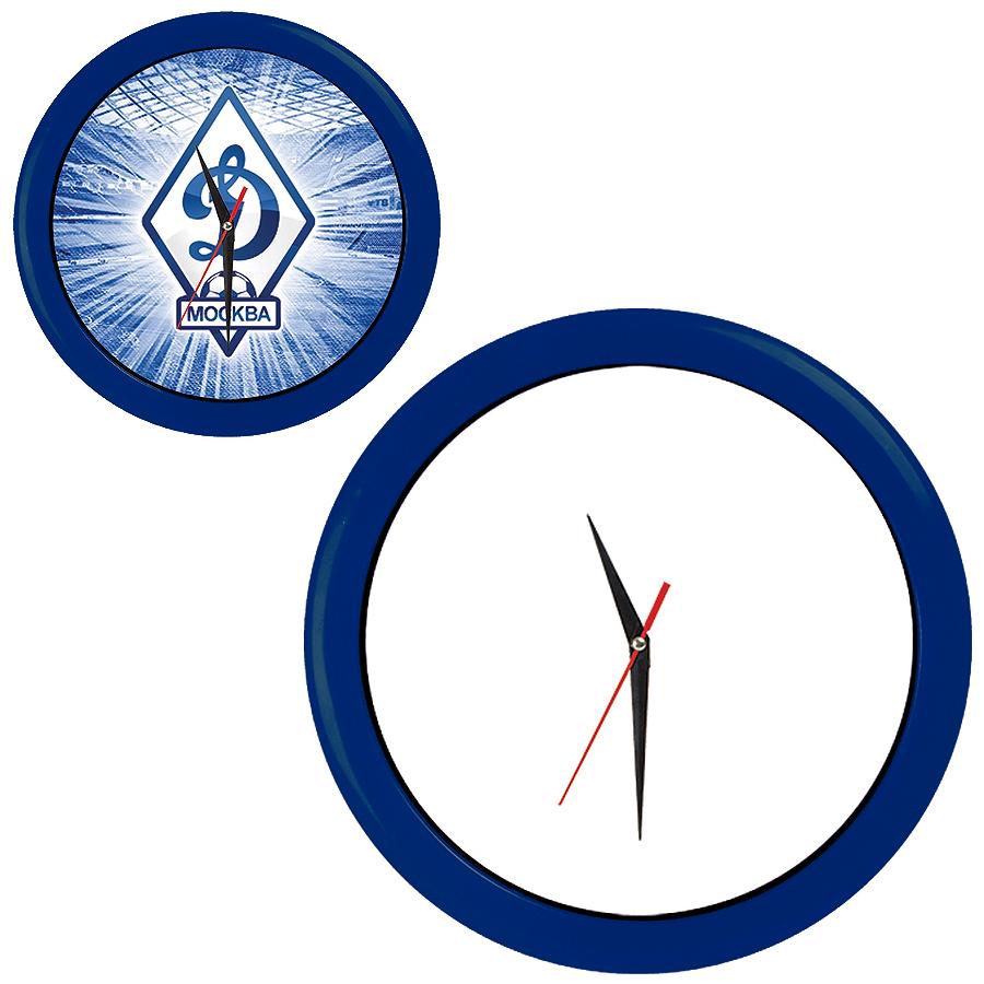 """Часы настенные """"ПРОМО"""" разборные ; яркий синий, D28,5 см; пластик/стекло"""