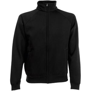 "Толстовка ""Sweat Jacket"", черный_S, 70% х/б, 30% п/э, 280 г/м2"