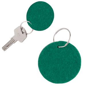 """Брелок """"Round felt"""", зеленый, 5,3х0,2см, фетр"""