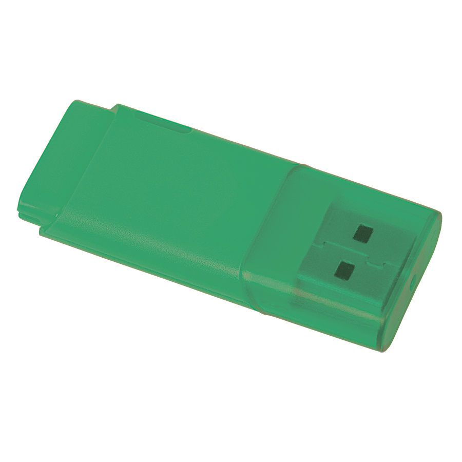 "USB flash-карта ""Osiel"" (8Гб),зеленый, 5,1х2,2х0,8см,пластик"