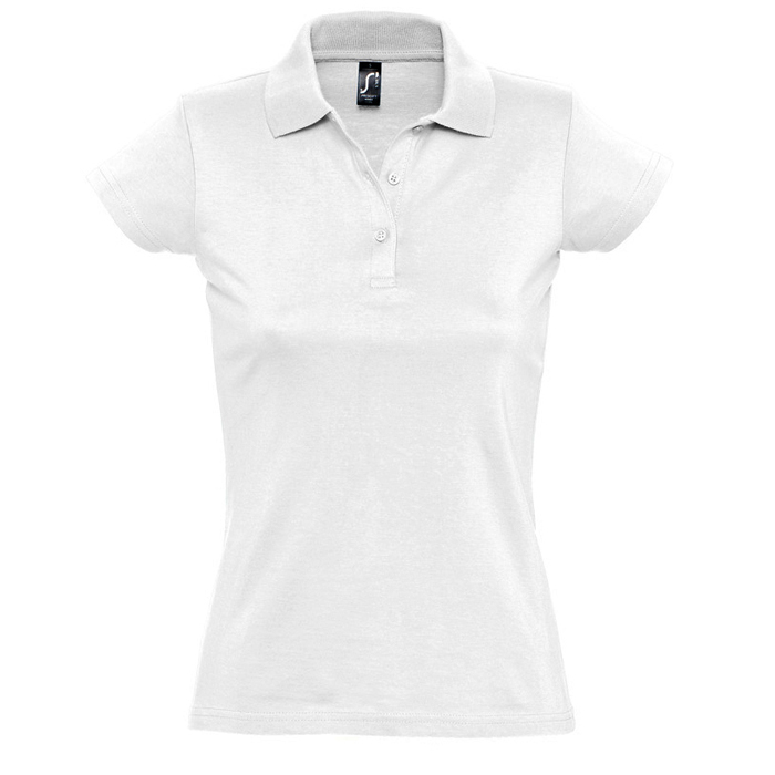 "Поло ""Prescott Women"", белый_XL, 100% х/б, 170г/м2"