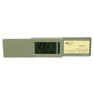 Часы-визитница; 10,6х1,9х6,6 см; пластик; тампопечать