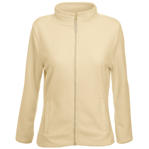 """Толстовка """"Lady-Fit Micro Jacket"""", бежевый_XL, 100% п/э, 250 г/м2"""