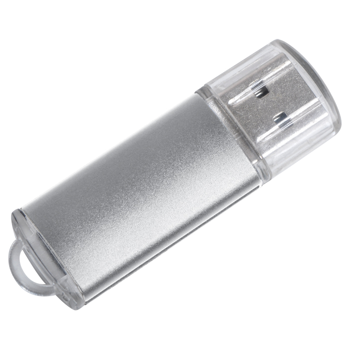 "USB flash-карта ""Assorti"" (4Гб),серебристая,5,5х1,7х0,6см,металл"