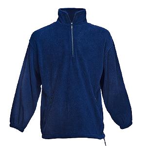 """Толстовка """"Half Zip Fleece"""", темно-синий_L, 100% п/э, 300 г/м2"""