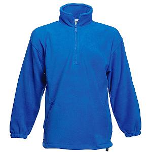 "Толстовка ""Half Zip Fleece"", ярко-синий_S, 100% п/э, 300 г/м2"