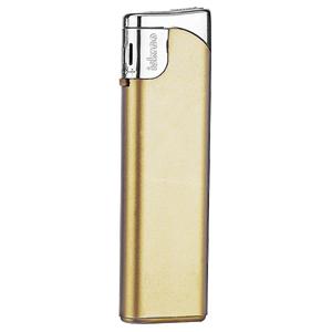 Зажигалка пьезо ISKRA, золотистая, 7,9х2,4х0,91 см, пластик/тампопечать