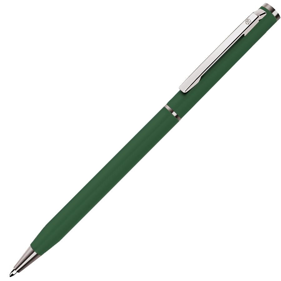 SLIM, ручка шариковая, зеленый/хром, металл