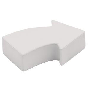 """Антистресс """"Стрелка""""; белый; 10х7х2,5 см; вспененный каучук; тампопечать"""