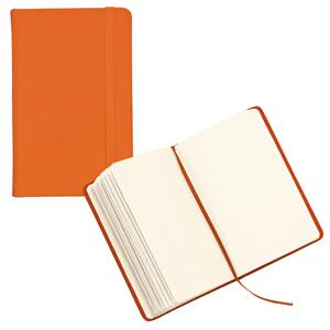 Блокнот для записей;оранжевый; 9,5х14,5х1,6 см.; искусственная кожа; шелкография