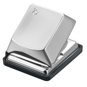 """Дырокол """"Компьютерная кнопка""""; 4,7х4х3,7 см; посеребренный металл; лазерная гравировка"""