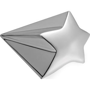 """Пресс-папье """"Звездочка""""; 10х6,2х5 см; посеребренный металл; лазерная гравировка"""