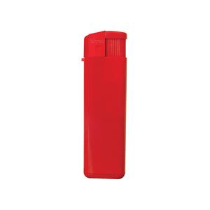 Зажигалка пьезо ISKRA, красная, 8,24х2,52х1,17 см, пластик/тампопечать
