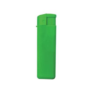 Зажигалка пьезо ISKRA, зеленая, 8,24х2,52х1,17 см, пластик/тампопечать
