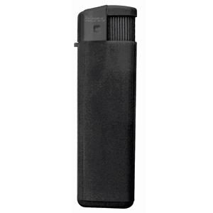 Зажигалка пьезо ISKRA, черная, 8,24х2,52х1,17 см, пластик/тампопечать