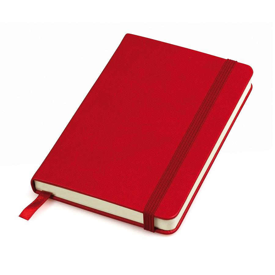 """Бизнес-блокнот """"Casual"""", 115 × 160 мм,  красный, твердая обложка, резинка 7 мм, блок-клетка"""