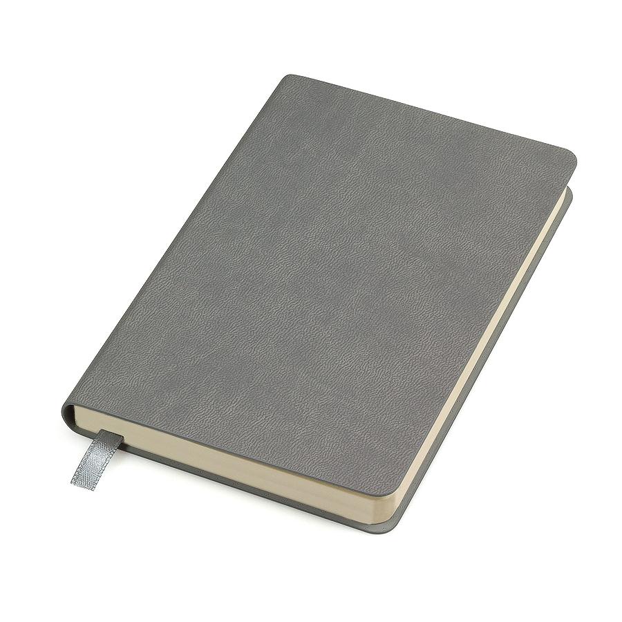"""Бизнес-блокнот """"URBAN"""", 130 × 210 мм,  серый,   мягкая обложка,  блок-линейка, тиснение"""