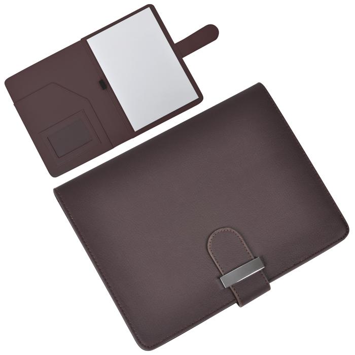 """Папка А5 с блокнотом """"Classic"""",коричневая,17,5х23х1,7см, искусственная кожа"""
