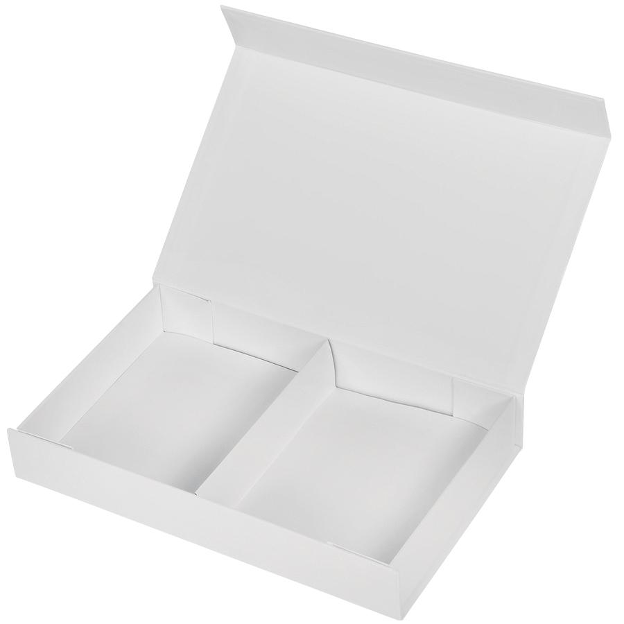 Коробка подарочная,  белый, 16х24х4  см,  кашированный картон, тиснение